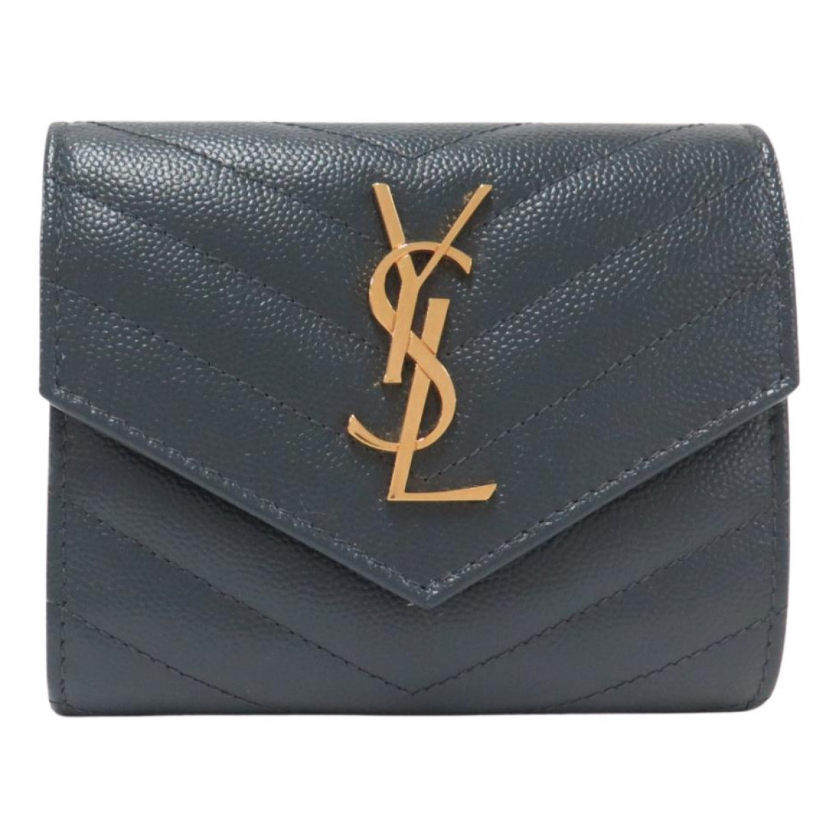 Saint Laurent Monogramme Grey Leather wallet for Women N