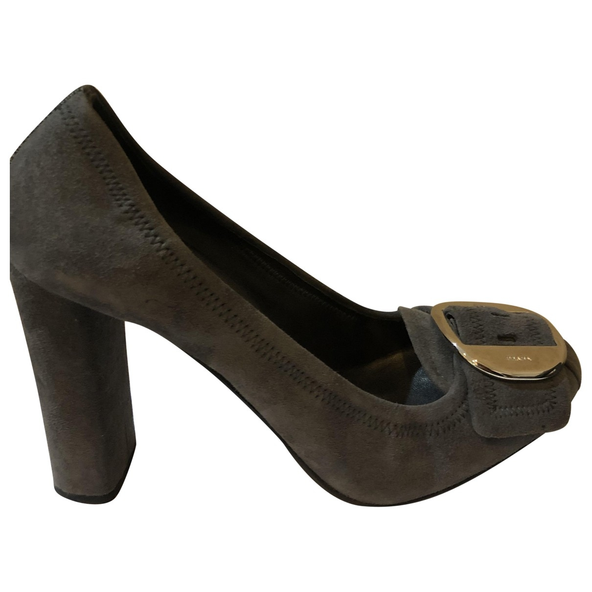 Prada \N Grey Suede Heels for Women 38 EU