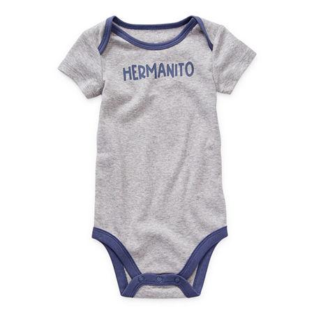 Okie Dokie Baby Boys Bodysuit, 3 Months , Gray