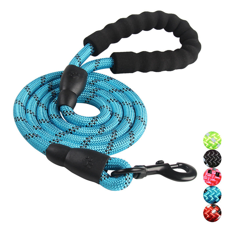 5 Colors Reflective Strong Pet Long Lead Leash Large Dog Running Rope Safety Leash