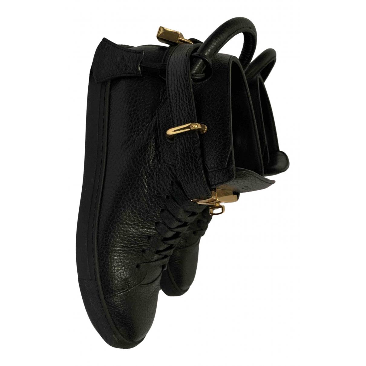 Buscemi \N Sneakers in  Schwarz Leder