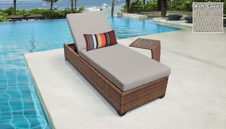 Laguna Collection LAGUNA-1x-ST-ASH Patio Set with 1 Chaise   1 Side Table - Wheat and Ash