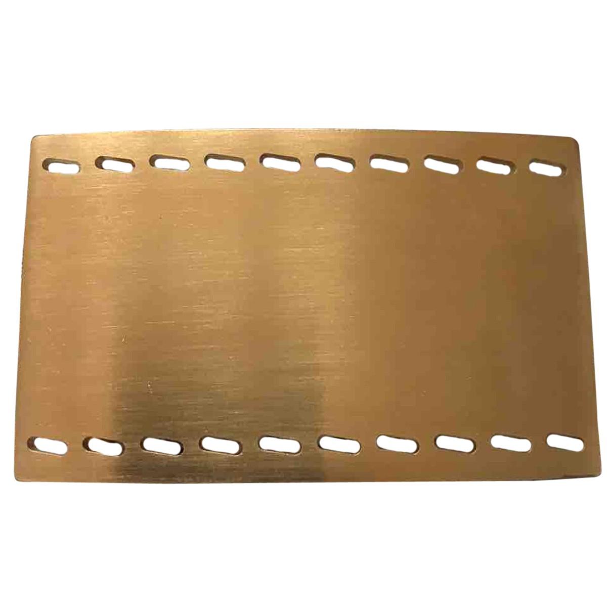Hermes - Ceinture Boucle seule / Belt buckle pour homme en metal - dore