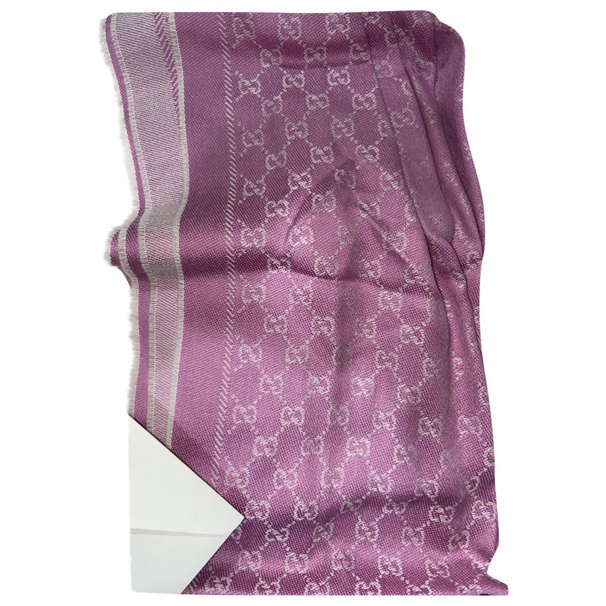 Gucci - Foulard   pour femme en coton - rose