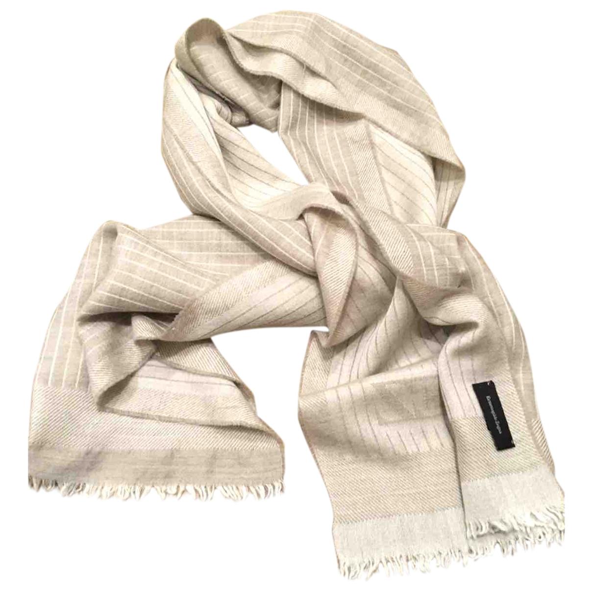 Ermenegildo Zegna \N Beige Silk scarf & pocket squares for Men \N