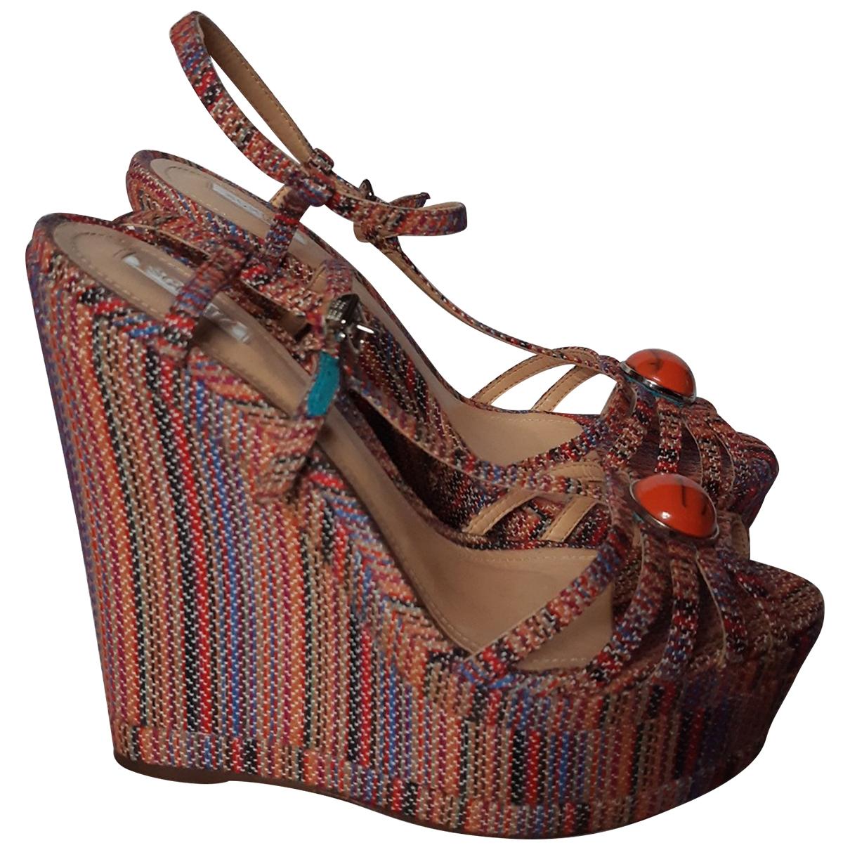 Schutz - Sabots   pour femme en tweed - multicolore