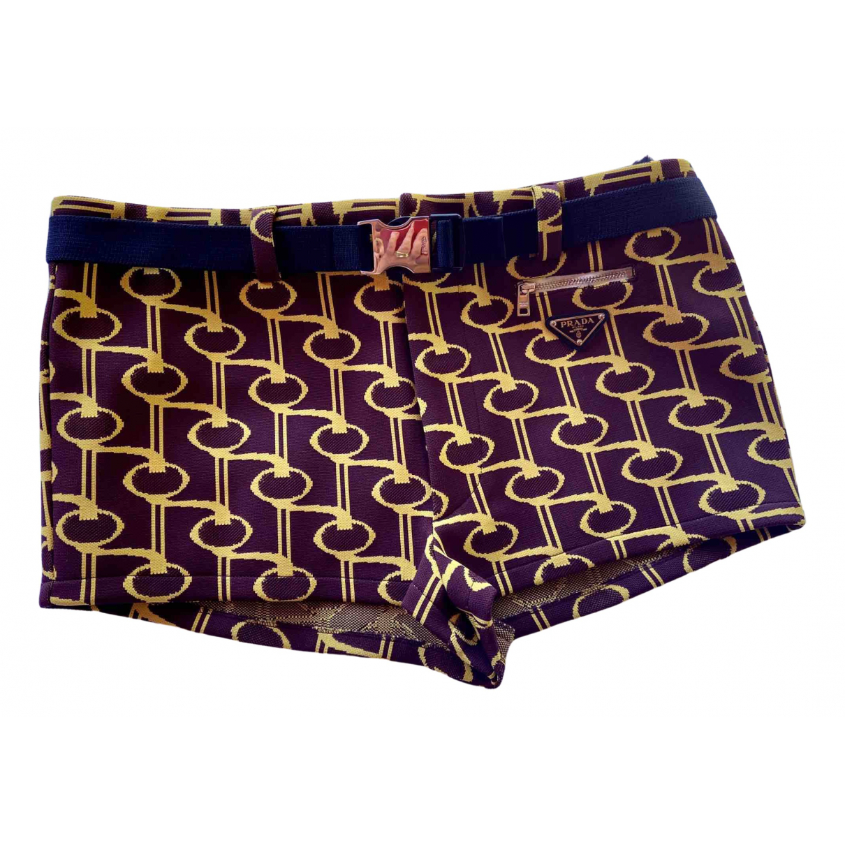 Prada \N Shorts in  Bordeauxrot Polyester