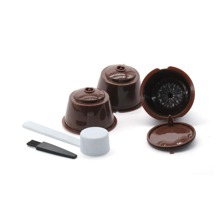 1pc Coffee Filter Cup & 1pc Spoon &  1pc Brush