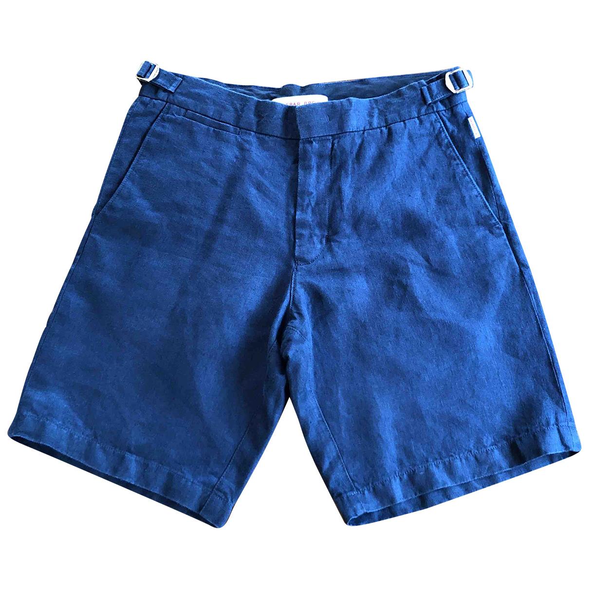Orlebar Brown \N Shorts in  Blau Leinen