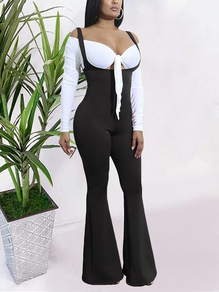 Yoins Backless Design Wide Leg Sleeveless Jumpsuit