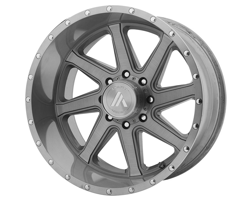 Asanti AB814-201080TB12NR Off-Road AB814 Windmill Wheel 20x10 8x8x165.1 -12mm Titanium-Brushed