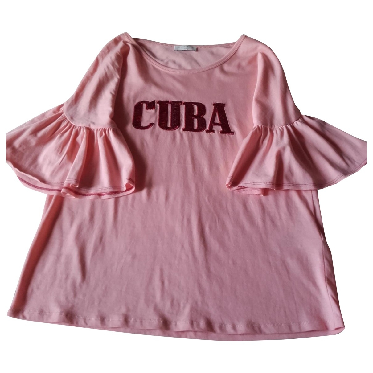 Sandro \N Pink Cotton  top for Women 38 FR
