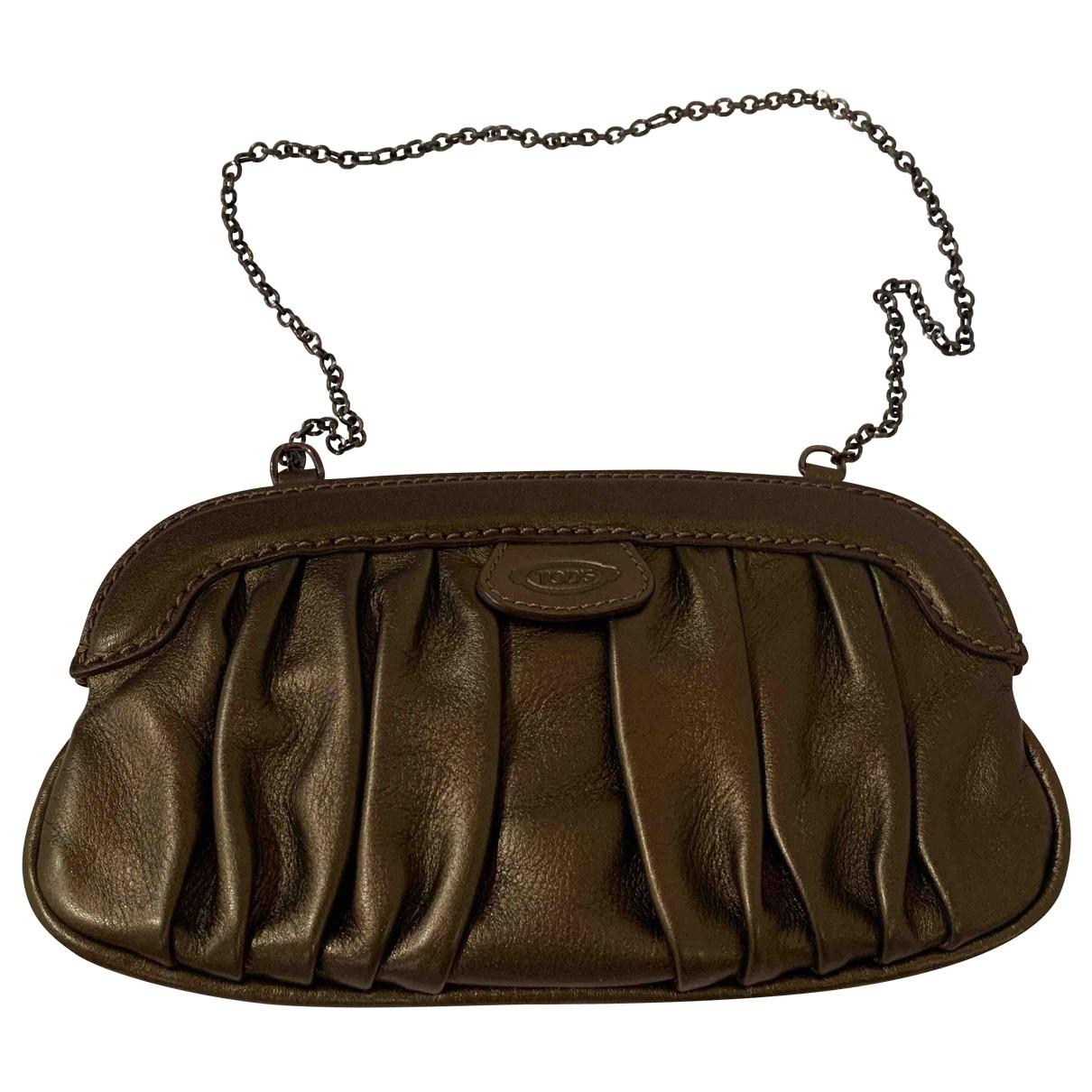 Tod's \N Metallic Leather handbag for Women \N