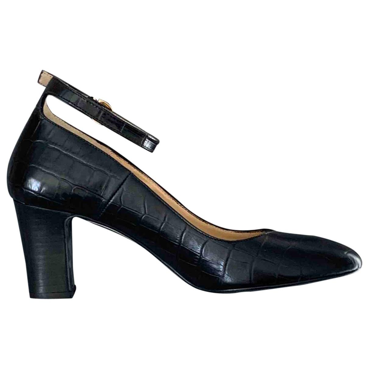 Minelli - Escarpins   pour femme en cuir - noir