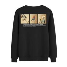 Sweatshirt mit Vogel und Buchstaben Grafik
