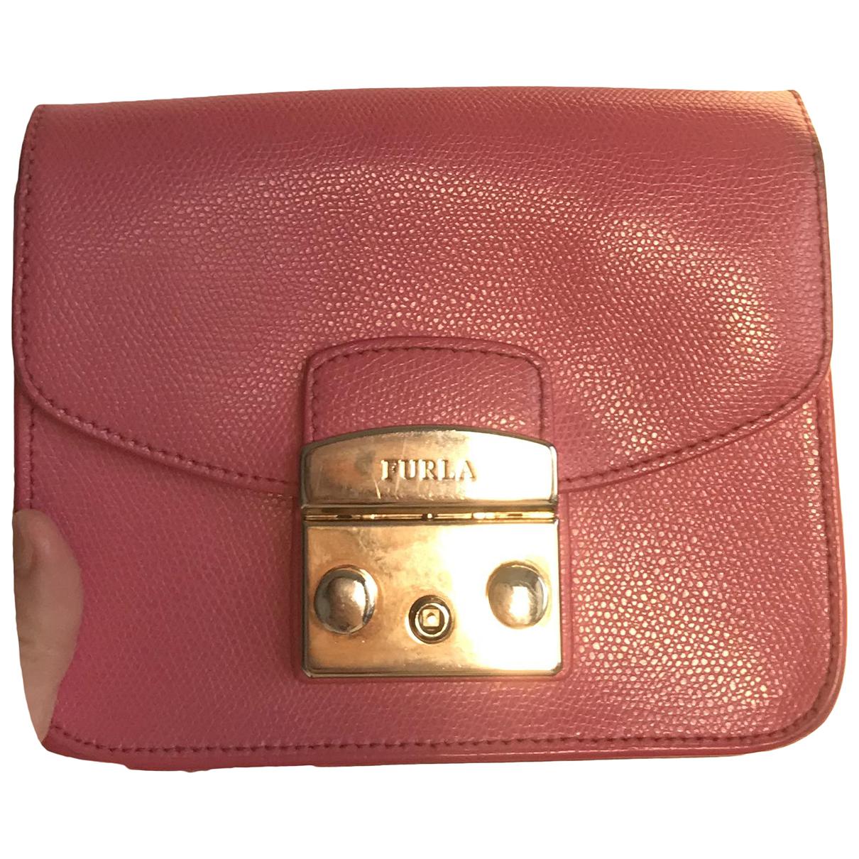 Furla - Sac a main Metropolis pour femme en cuir verni - rose