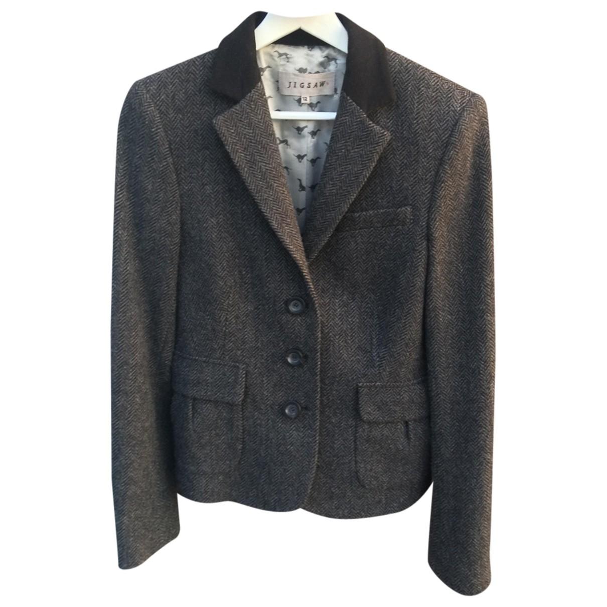 Jigsaw - Veste   pour femme en laine - gris