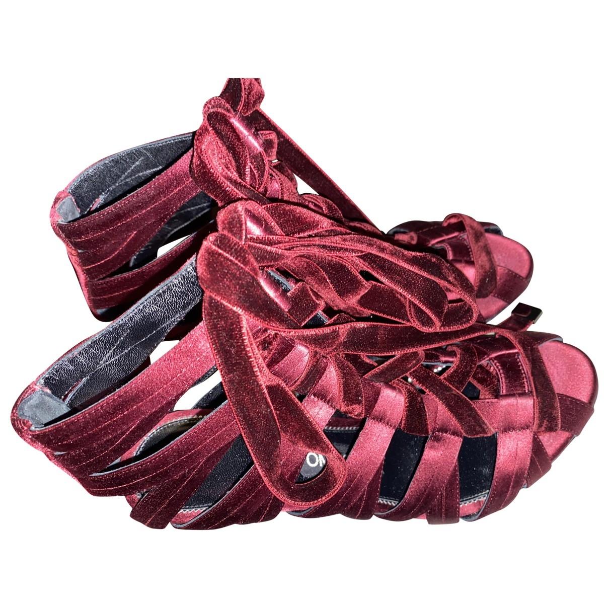 Tom Ford - Sandales   pour femme en velours - rouge
