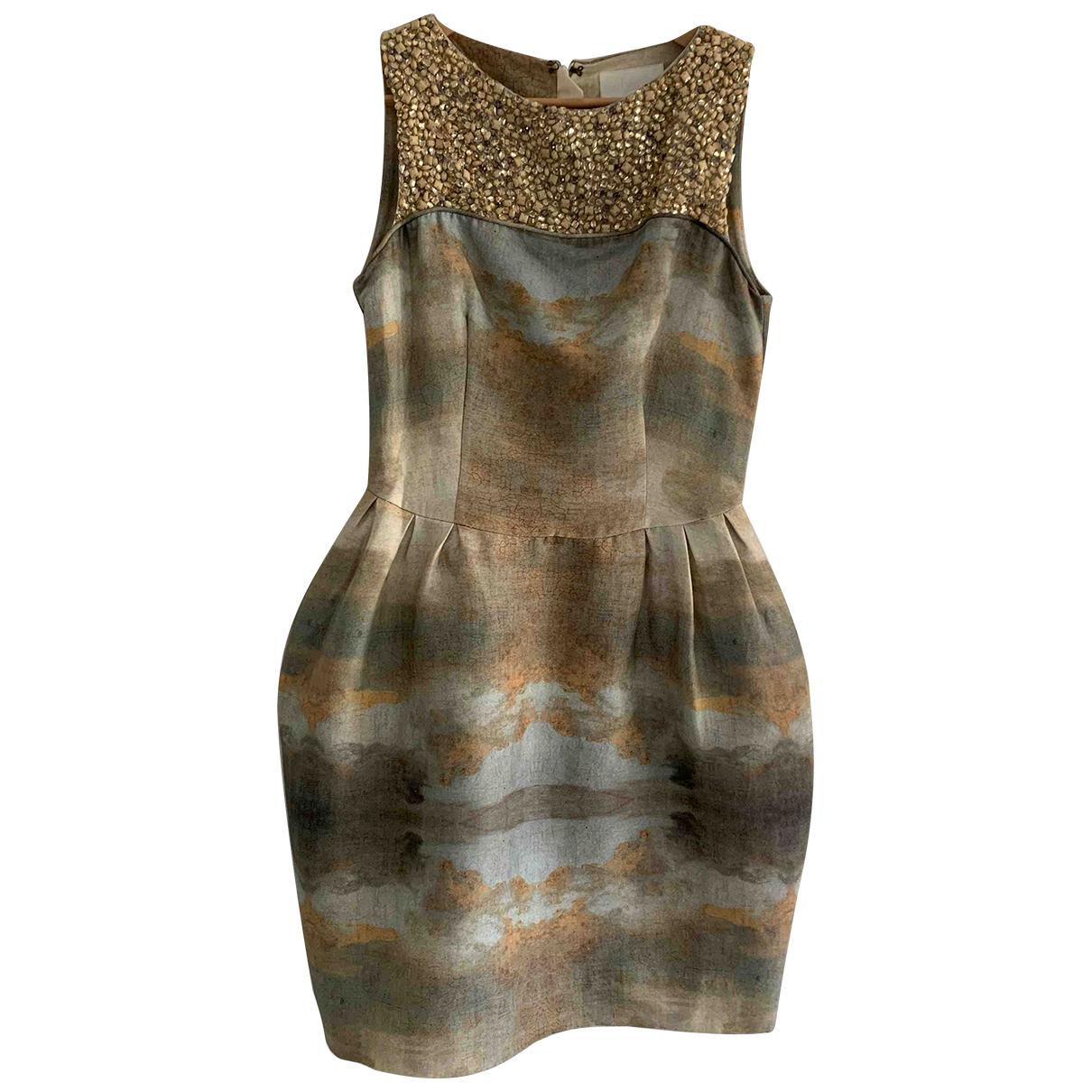 Hm Conscious Exclusive \N Kleid in  Gruen Baumwolle