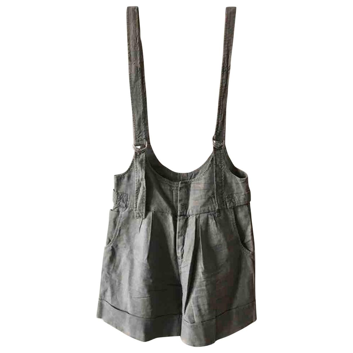 Zara \N Grey Linen jumpsuit for Women 34 FR