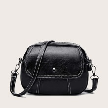 Stitch Detail Side Pocket Crossbody Bag