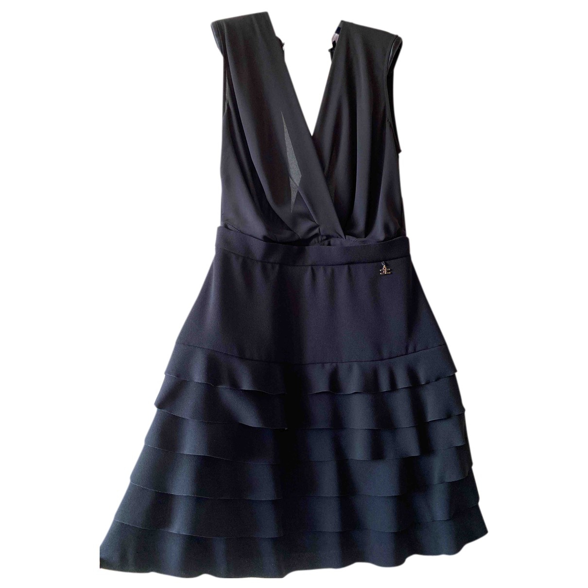 Elisabetta Franchi - Robe   pour femme en soie - noir
