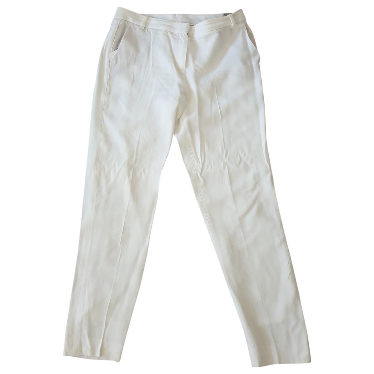 Massimo Dutti \N White Trousers for Women 40 FR