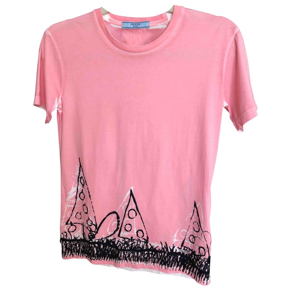 Prada - Top   pour femme en coton - rose