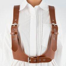 Cinturon de tira con hebilla metalica