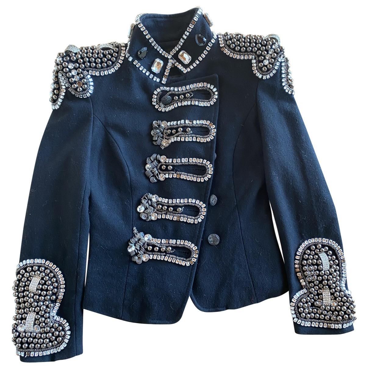 Balmain \N Black Wool jacket for Women S International