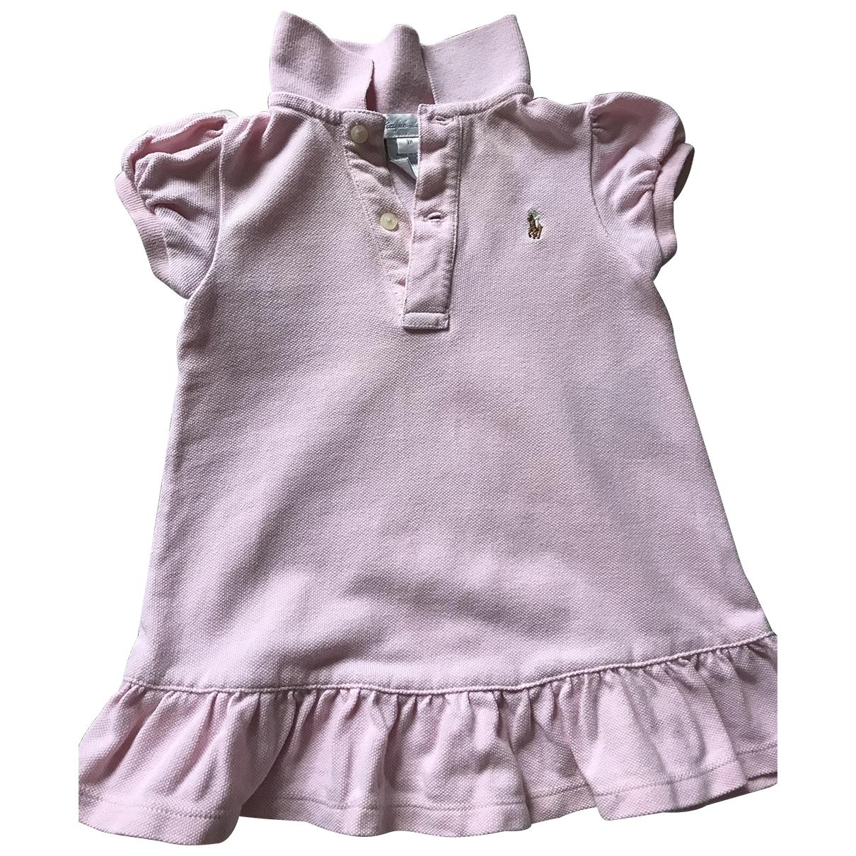 Ralph Lauren \N Pink Cotton dress for Kids 9 months - up to 71cm FR