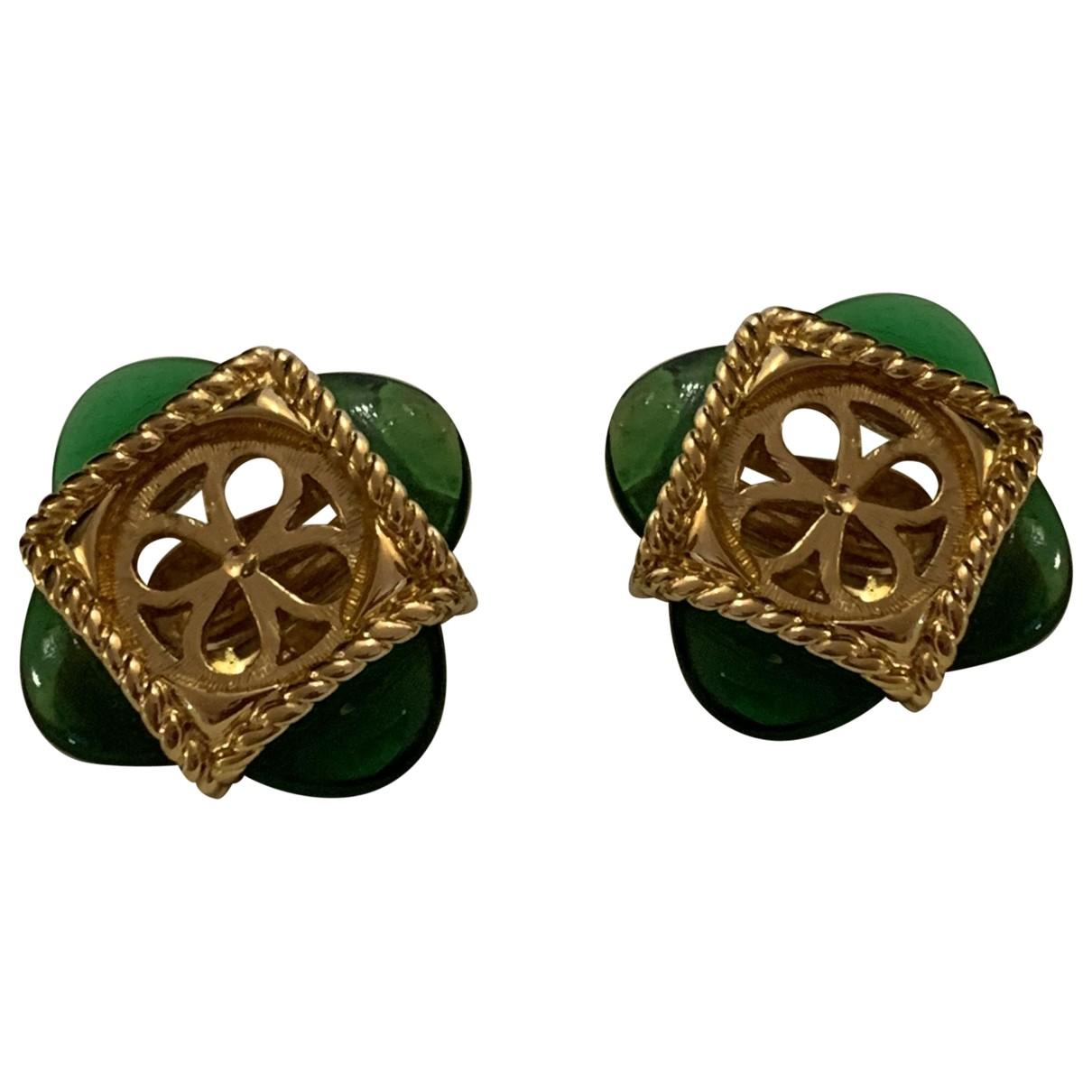 Nina Ricci N Green Metal Earrings for Women N