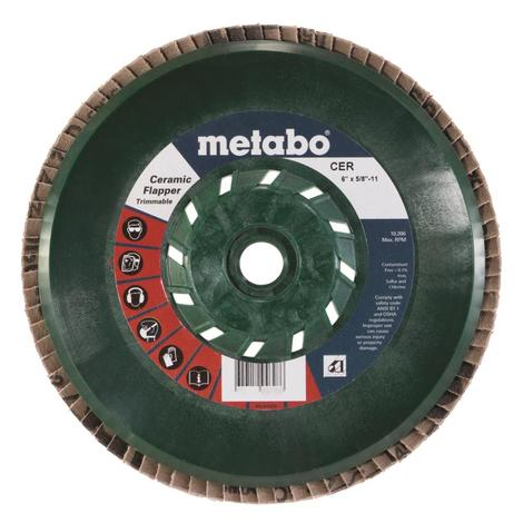 Metabo 6 In. Ceramic Flapper 60 5/8 In.-11 T29 Trimmable (Pb)