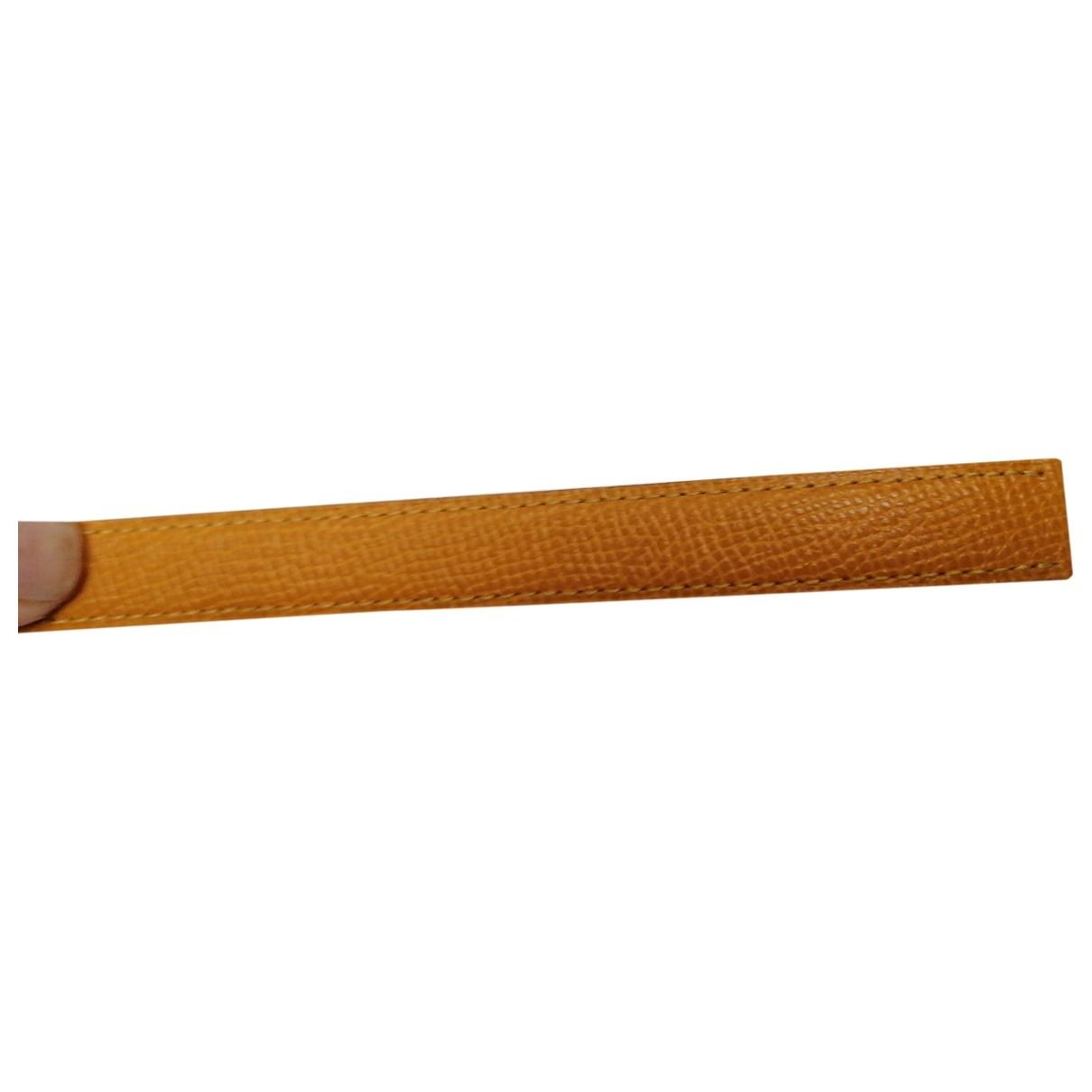 Poiray Bracelet Ma Premiere Uhr in  Gelb Leder