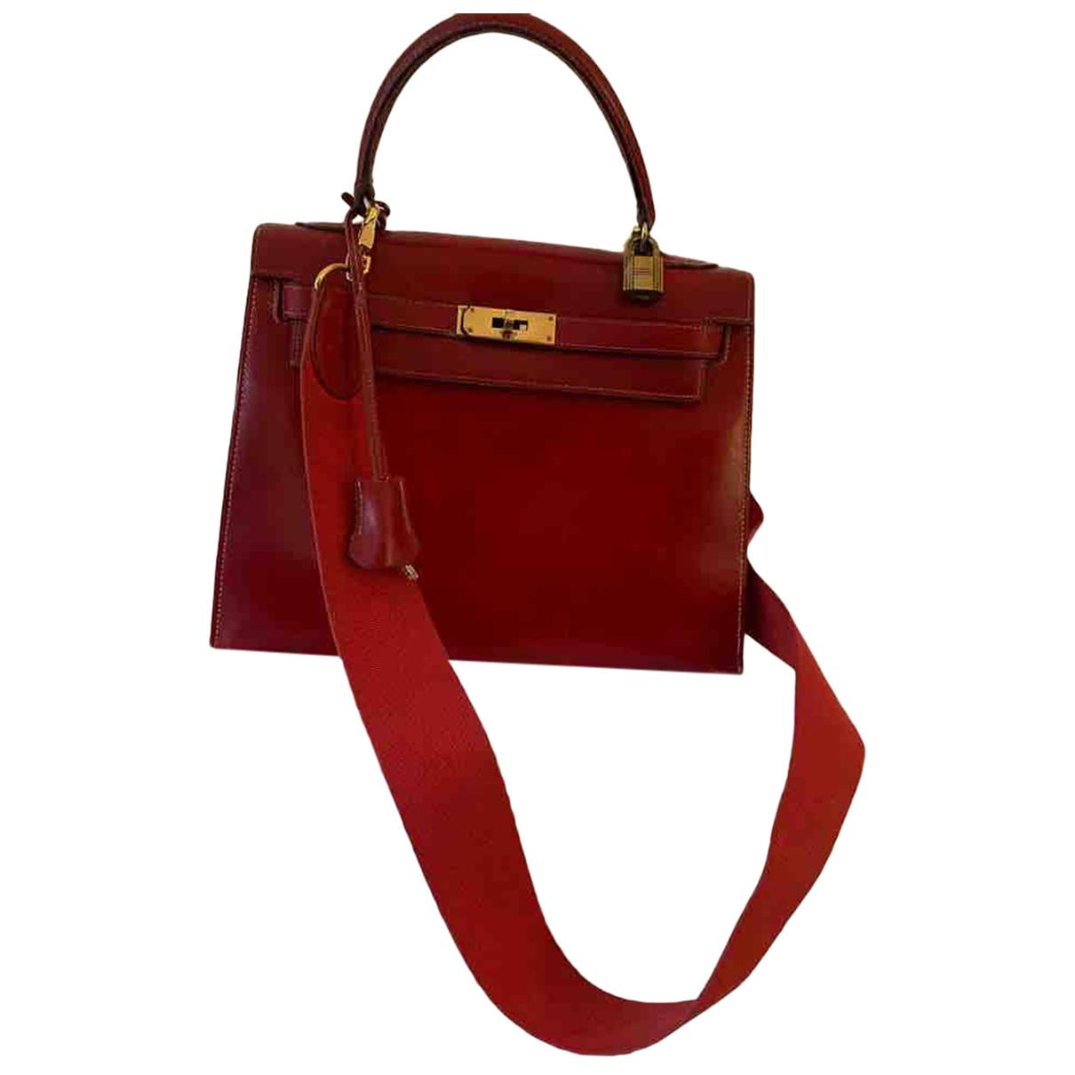 Hermès Kelly 28 Red Leather handbag for Women N