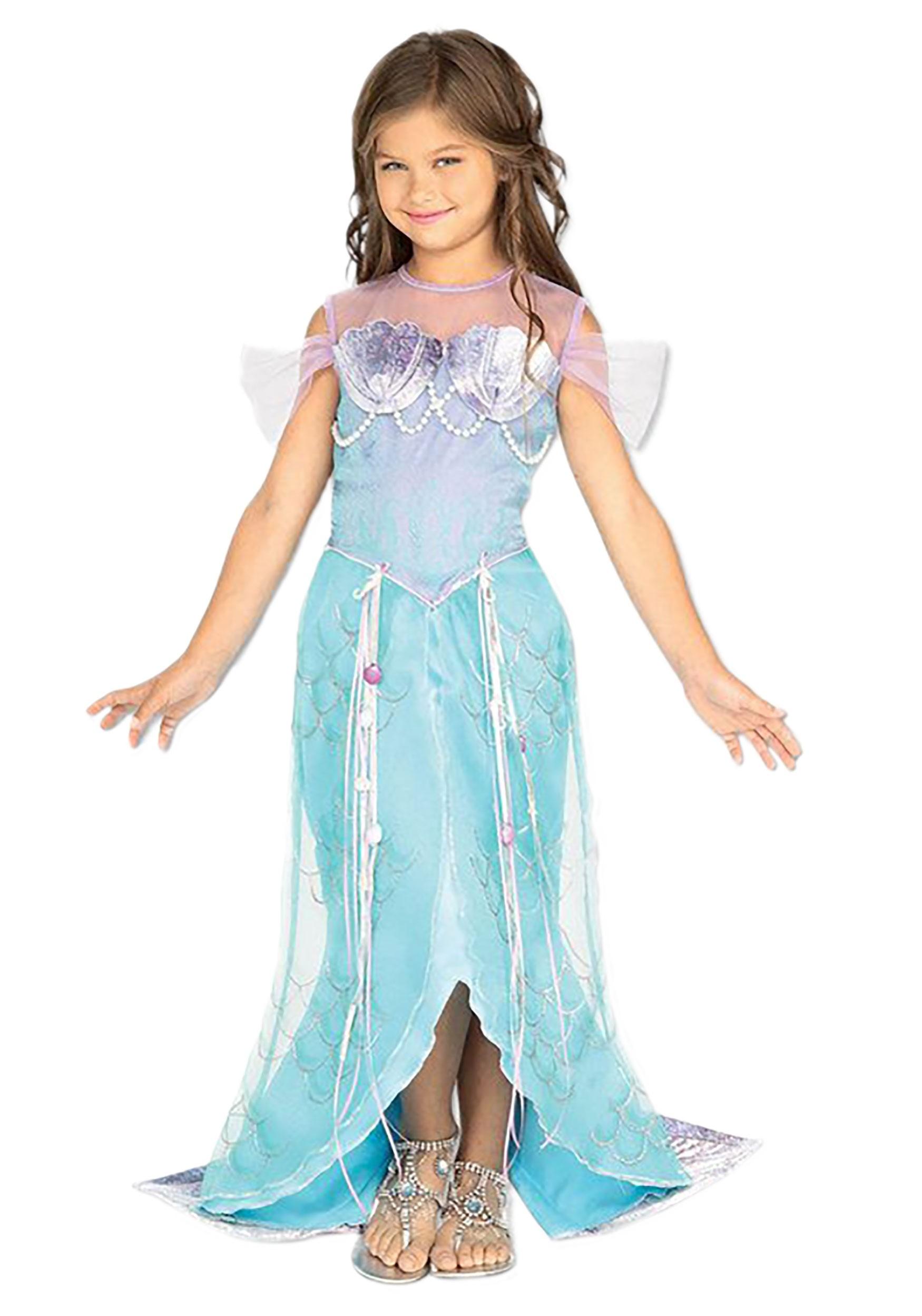 Girls Mermaid Princess Costume