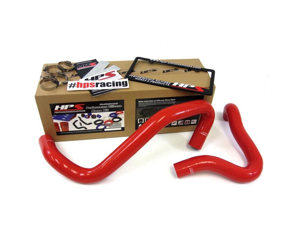 HPS Red Reinforced Silicone Radiator Hose Kit Coolant for Ford 01-03 F550 Superduty w/ 7.3L Diesel Single or Dual Alternator