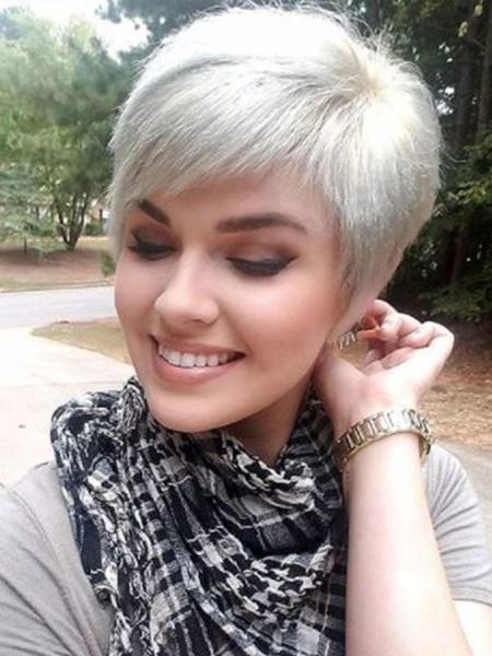 Milanoo Human Hair Wigs For Women Silver Mixed-hair Layered Exotic Short Human Hair Wigs
