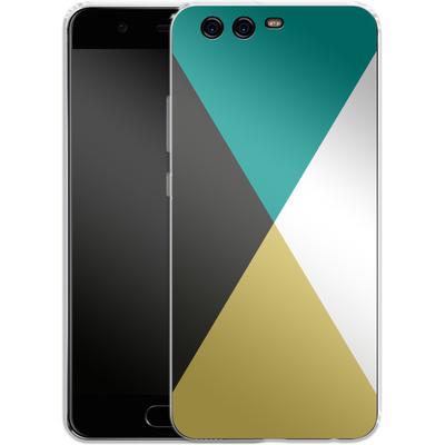 Huawei P10 Silikon Handyhuelle - Four Triangles von caseable Designs