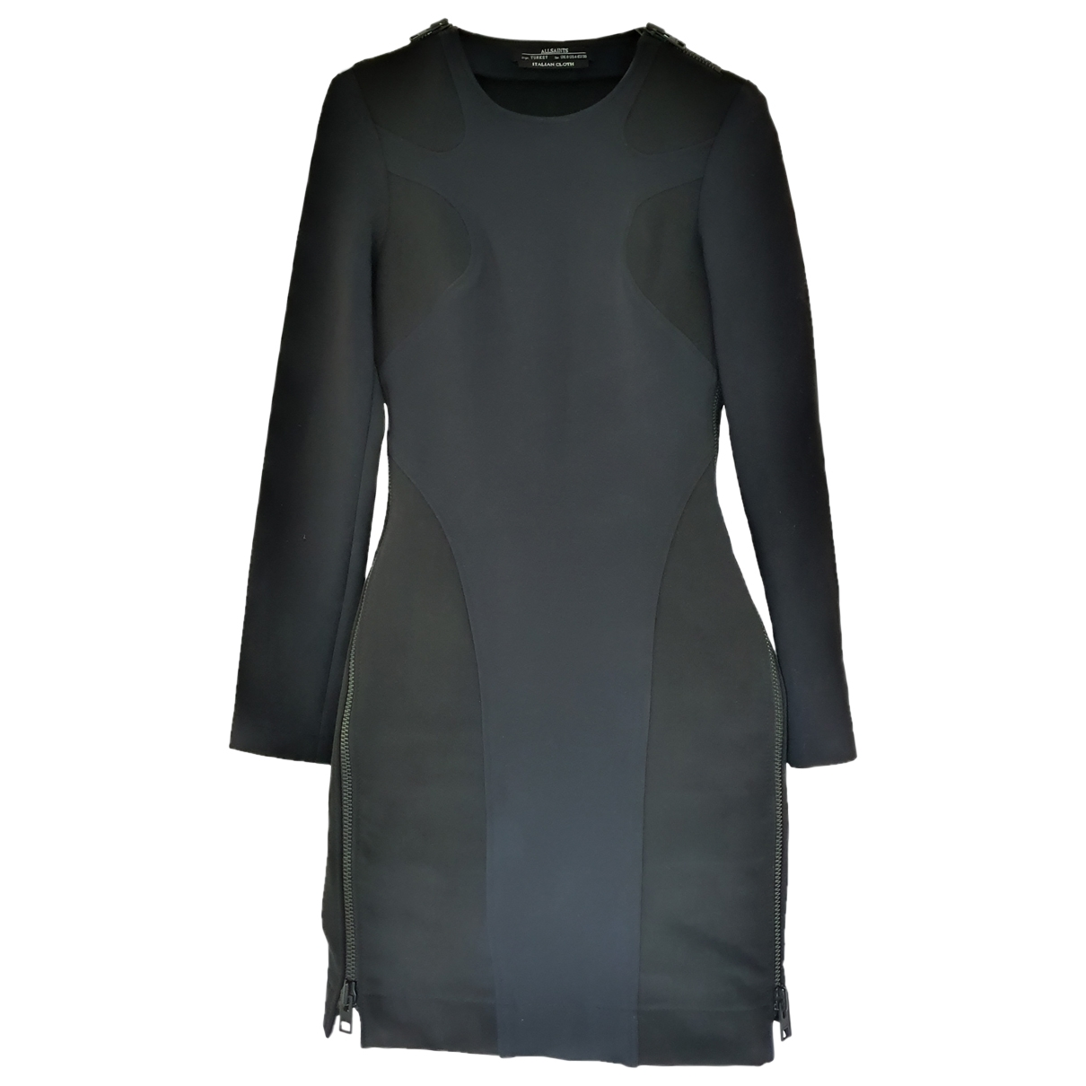 All Saints \N Kleid in  Schwarz Viskose