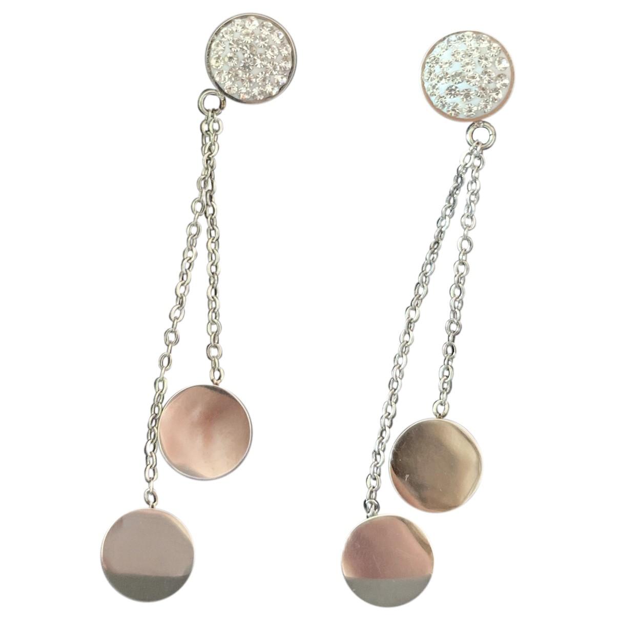 Autre Marque N Silver Steel Earrings for Women N