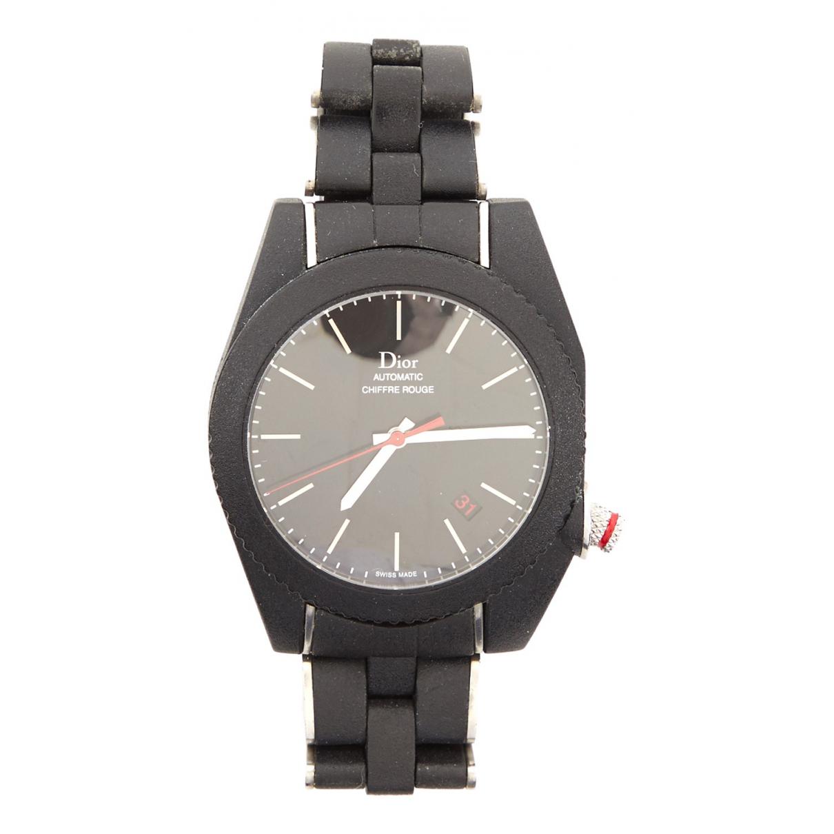 Dior Chiffre Rouge Uhr in  Schwarz Stahl