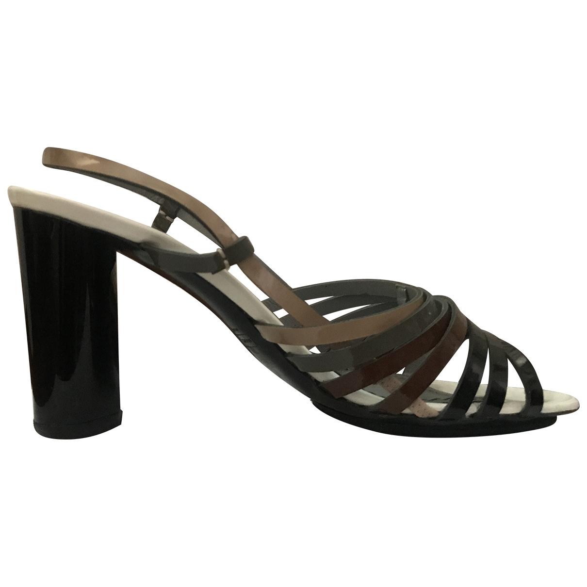 Marc Jacobs - Sandales   pour femme en cuir - anthracite