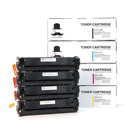 Compatible Canon 131 Toner Cartridge Combo BK/C/M/Y - Moustache@