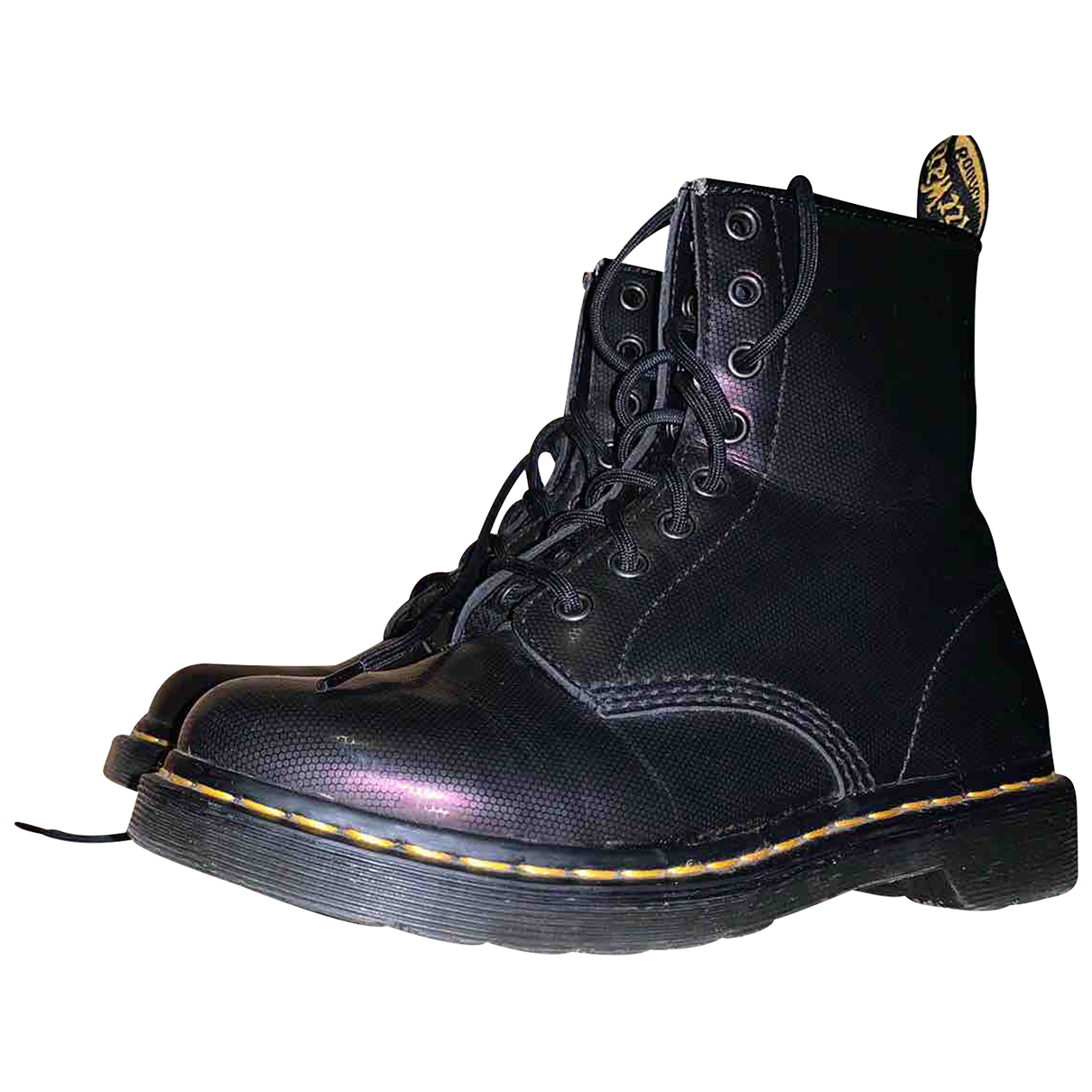 Dr. Martens N Purple Leather Ankle boots for Women 40 EU