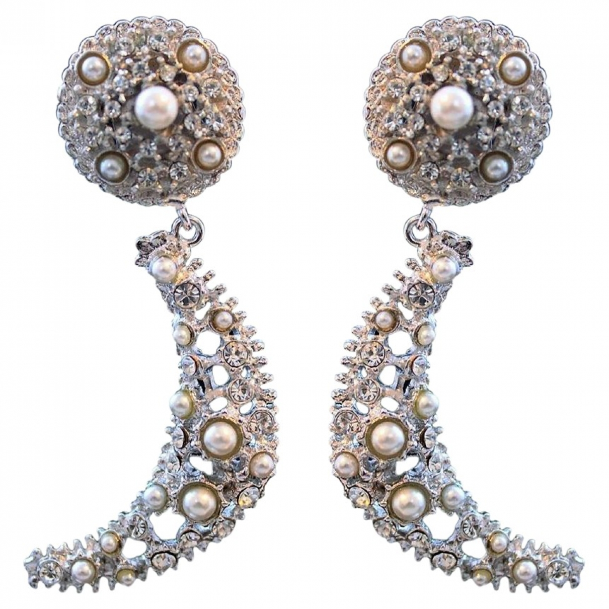 Carlo Zini \N OhrRing in  Silber Metall