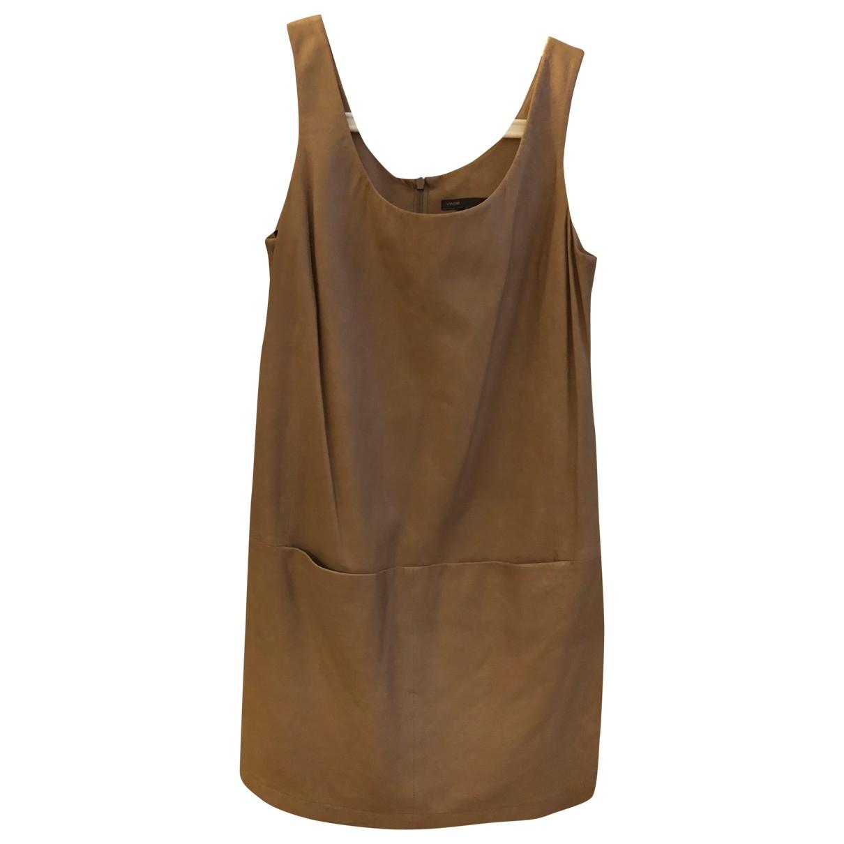 Mini vestido de Cuero Vince