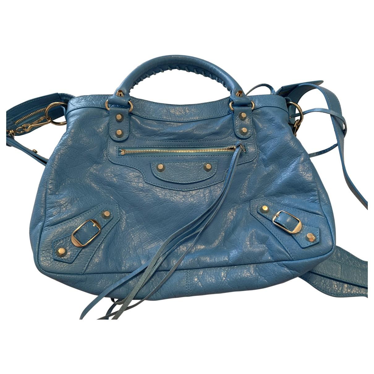 Balenciaga City Turquoise Leather handbag for Women \N
