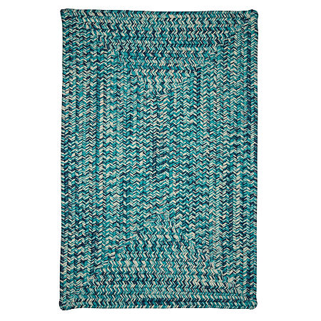 Colonial Mills Blaise Tweed Reversible Indoor/Outdoor Braided Rug, One Size , Blue