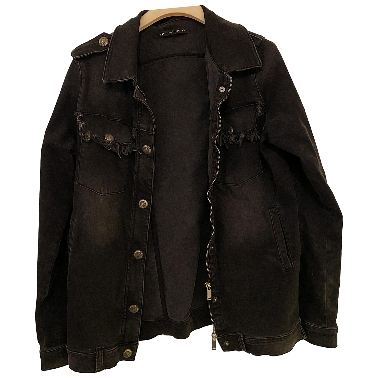 Raiine \N Black Denim - Jeans jacket for Women M International